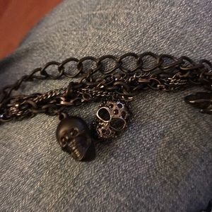 "Black Skulls 20"" Chain Necklace"